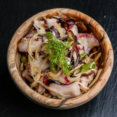 Salade de poulpes et de légumes