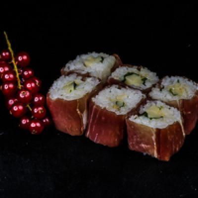 MB ROLL 3 - Jambon fumé, comté, pignons de pin, roquette, sauce césar