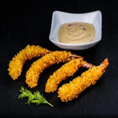 Crevettes tempura x4 sauce spicy
