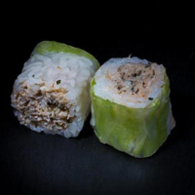 Spring ROLL 2 - Chair de crabe, mayonnaise, coriandre, menthe